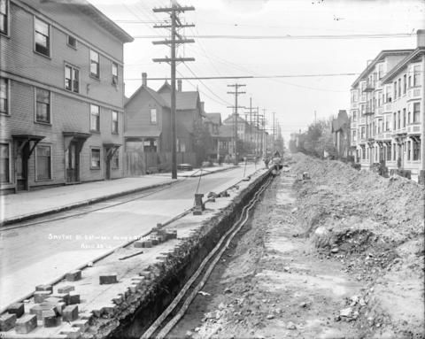 Smythe St. between Howe and Granville. April 28 '14. - City of Vancouver Archives