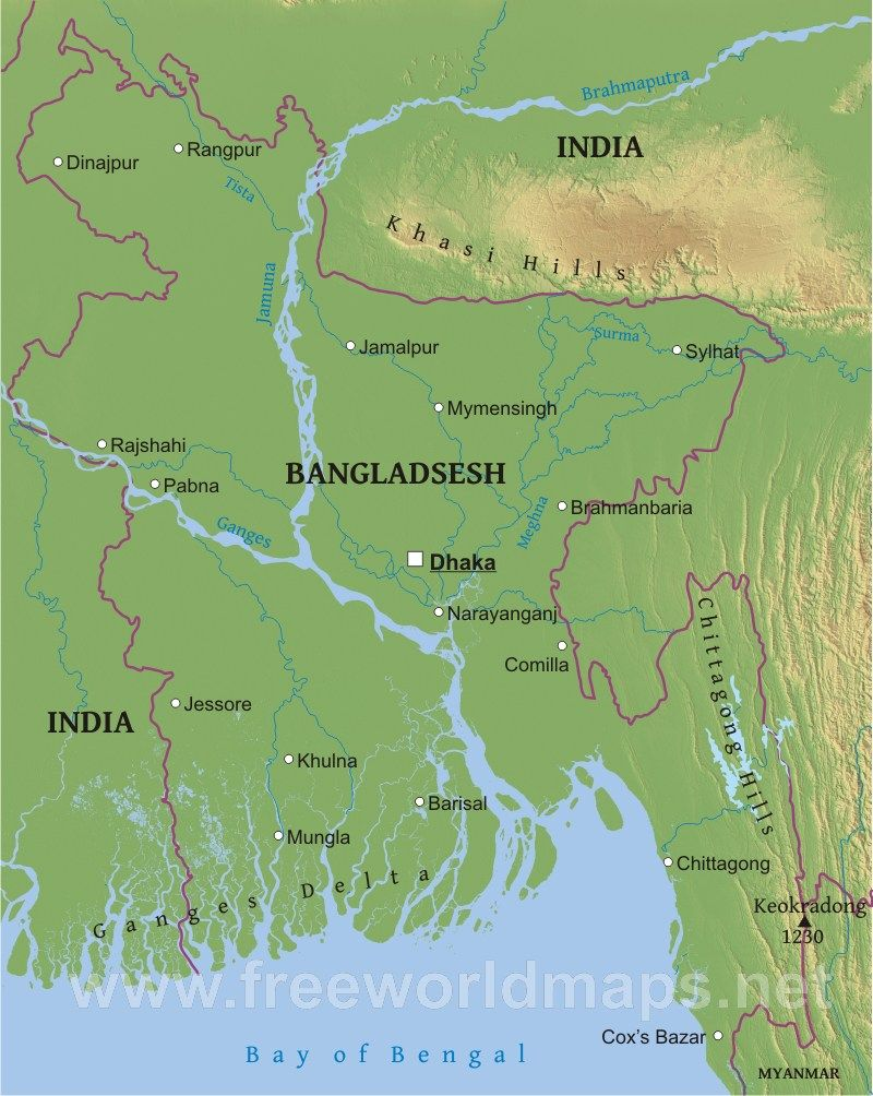 This Is A Physical Map Of Bangladesh James Bangladesh Pinterest
