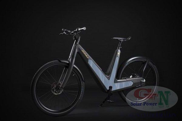 Xe đạp chạy bằng pin điện năng lượng mặt trời Leaos Solar e-bike