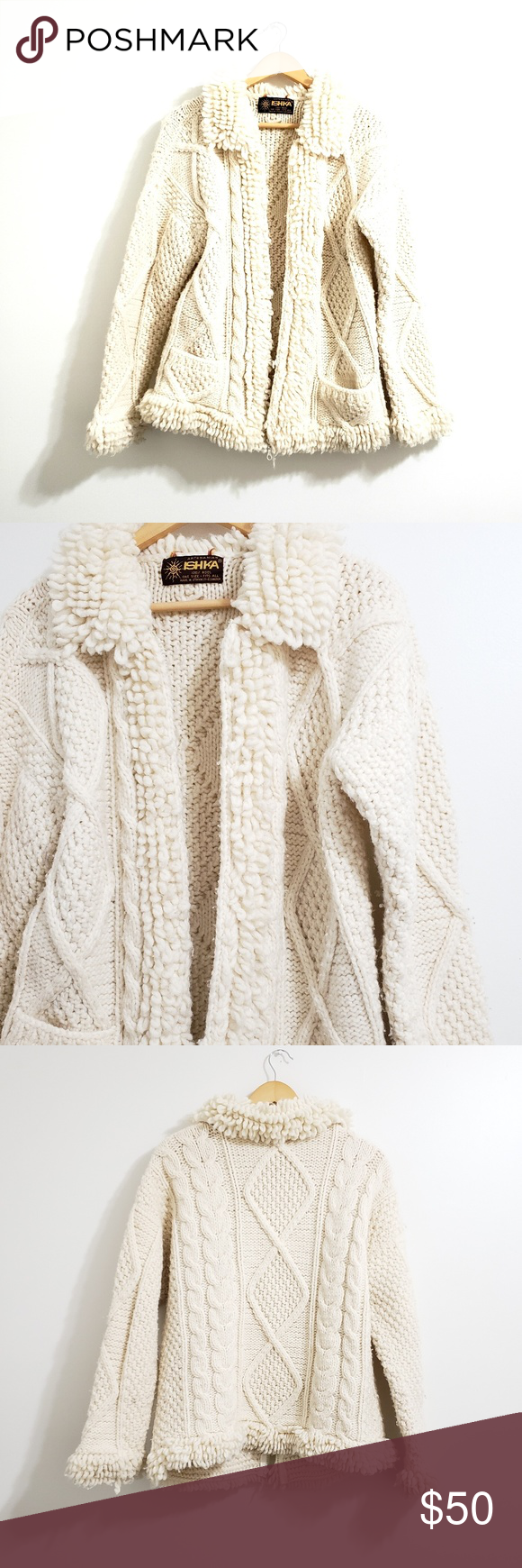 Artesania Ishka | Wool Textured Knit Sweater | Textured knit