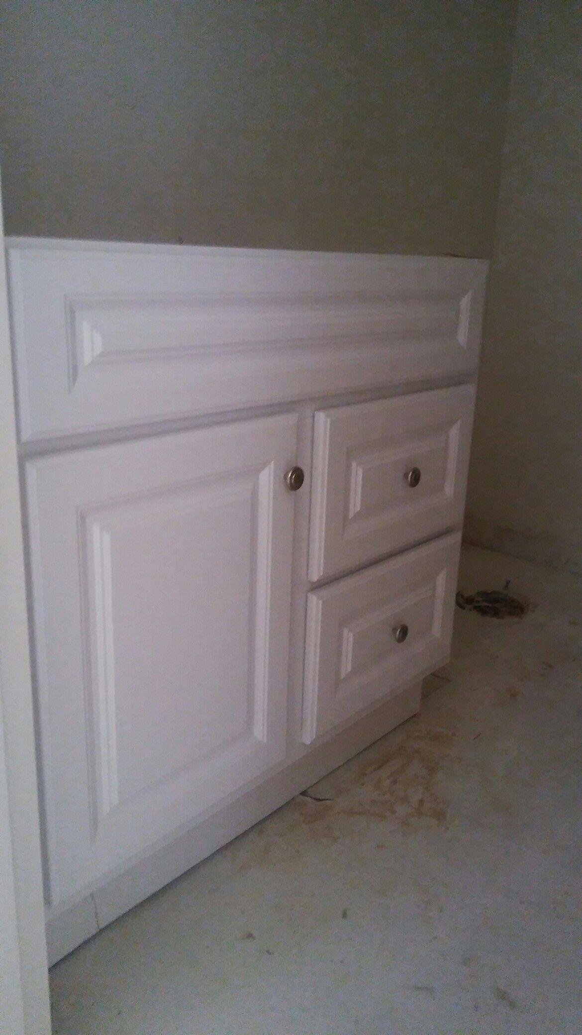 Corner hallway storage cabinet  New hall bathroom cabinet