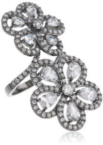 CZ by Kenneth Jay Lane 12 cttw Double Daisy Ring, Size 7