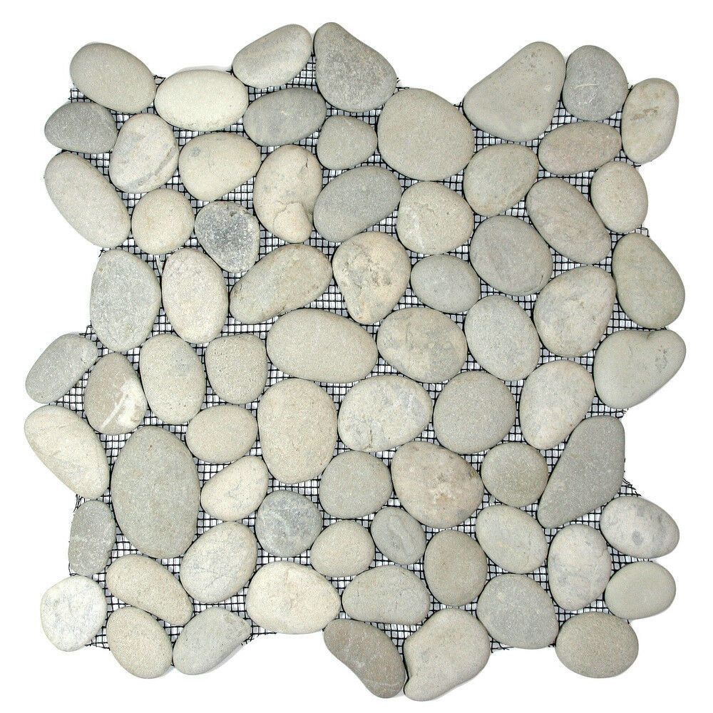 Speckled Pebble Tile 12 X 12 River Rock Stone Tile For Sale Online Ebay In 2020 Stone Mosaic Tile Pebble Tile Stone Mosaic