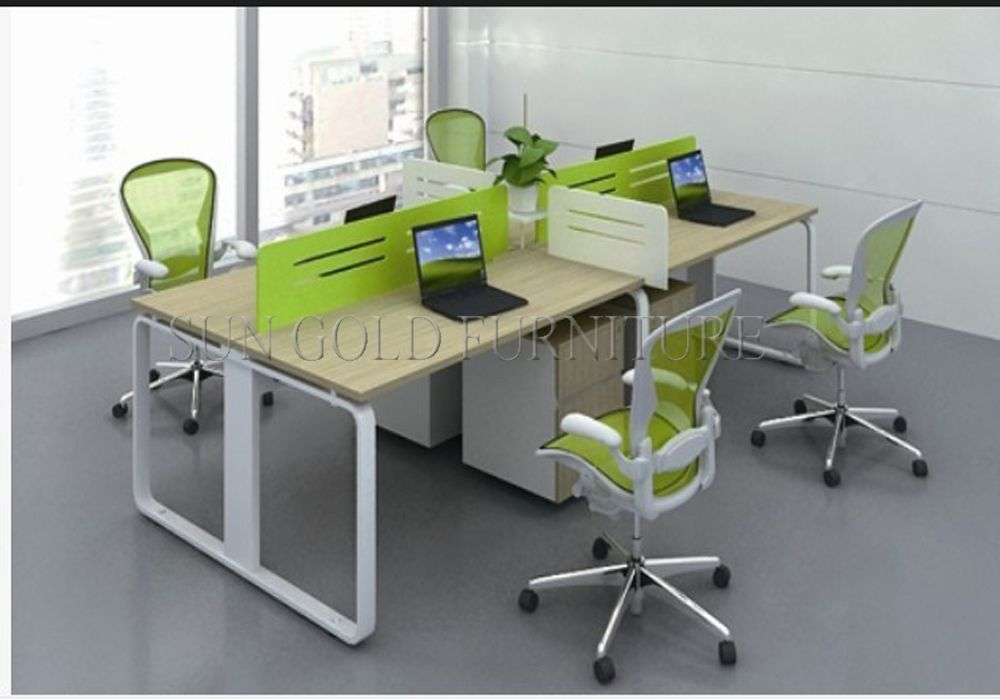 China 4 Person Melamine Staff Desk/Particle Office Table/Office