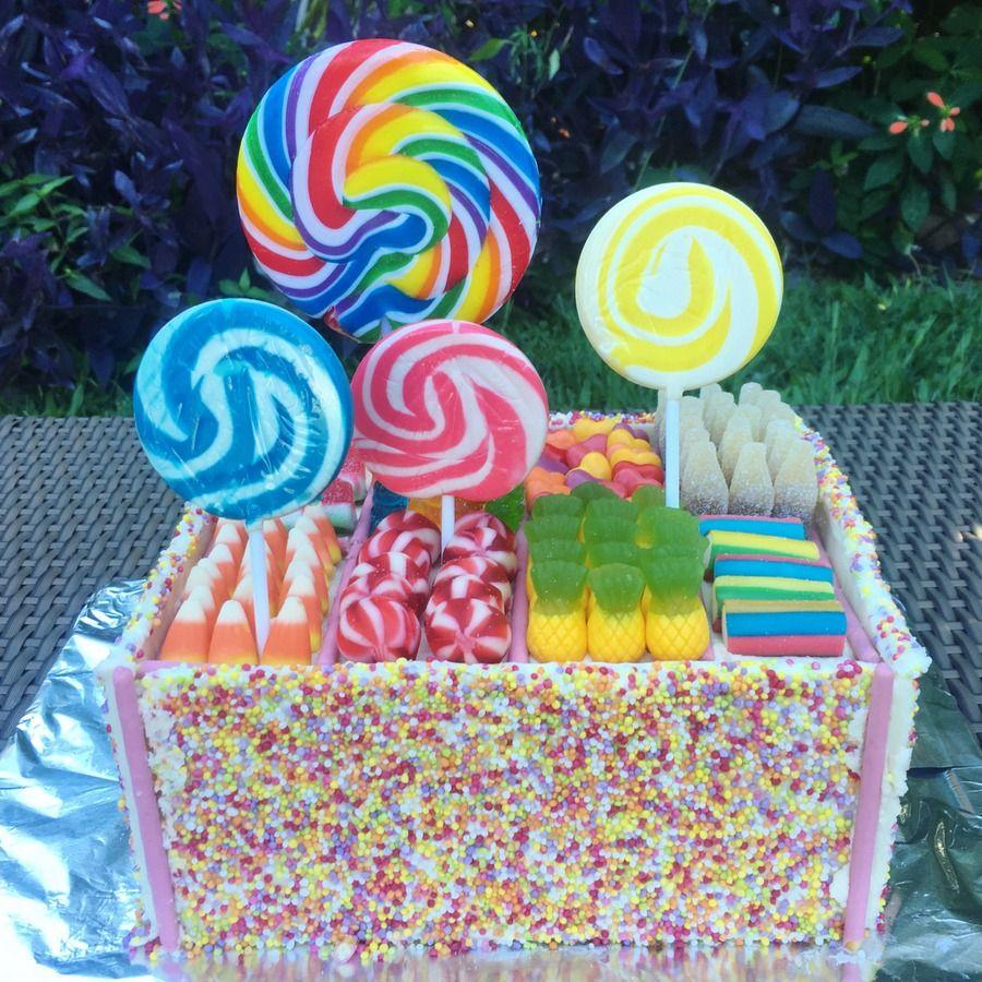 Candy box cake simple birthday cake cake decorating