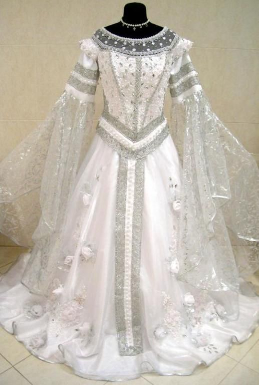 SILVER MEDIEVAL WEDDING DRESS VICTORIAN GOTH LARP M-L-XXL 12-14-16-18 WICCA ROBE | the Wicca Collectionary Keywords: #weddings #jevelweddingplanning Follow Us: www.jevelweddingplanning.com  www.facebook.com/jevelweddingplanning/