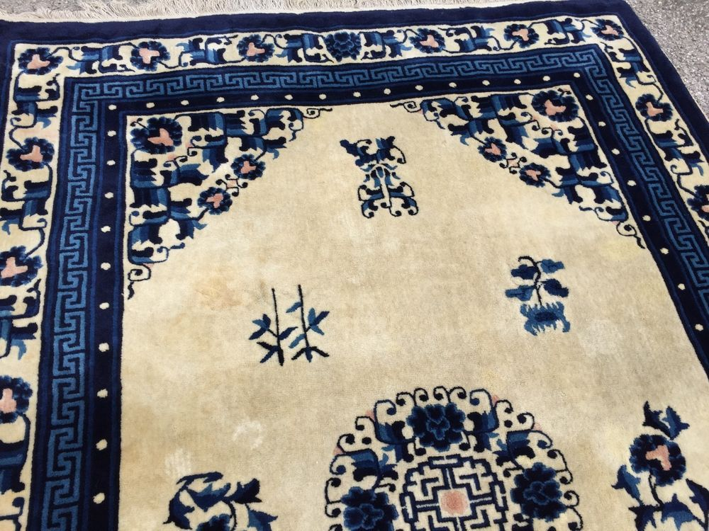 China Teppich alt antik Chinese Rug 210x140cm,Carpet antique old