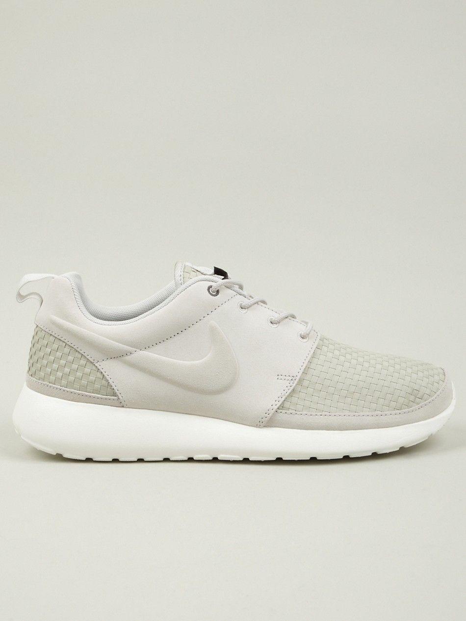 Nike Run Roshe Tissé Os Blanc