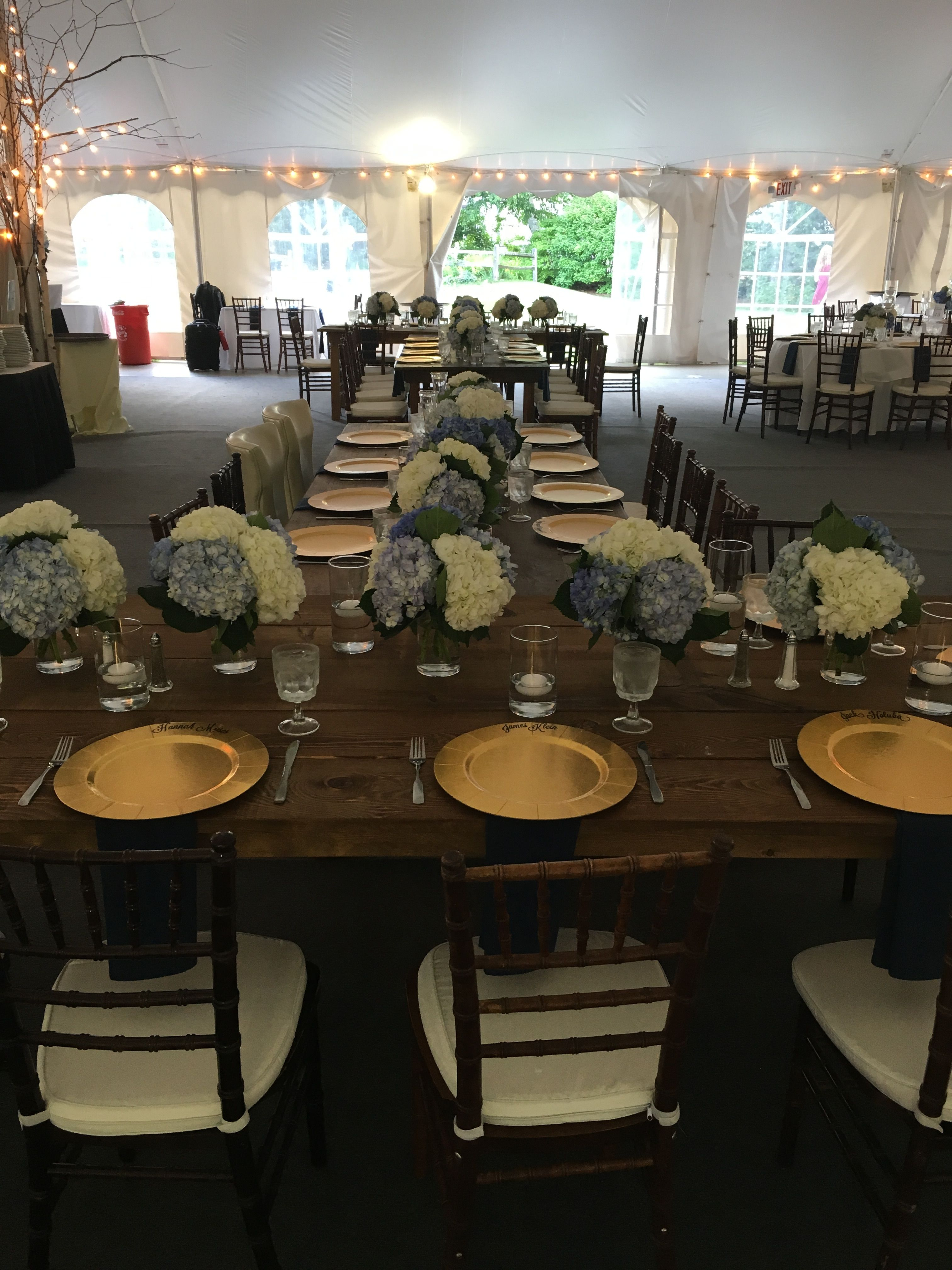 Head table setup on 7/15....this photo includes our