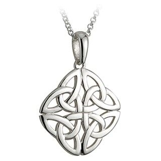 Solvar sterling silver four trinity knot pendant brand inspiration solvar sterling silver four trinity knot pendant aloadofball Choice Image