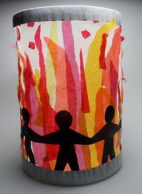 Feuerlaterne: Feuerlaterne von Sophie (8) - Leporello - Kikunst, Kinderbilder im Kunstunterricht | Labbé Verlag