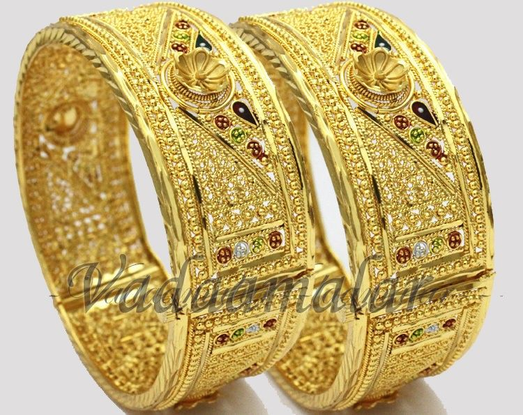 bangle bracelets from india new micro gold plated