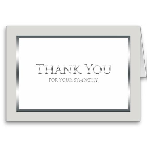 Funeral Thank You Card -- Classic Silver Funeral