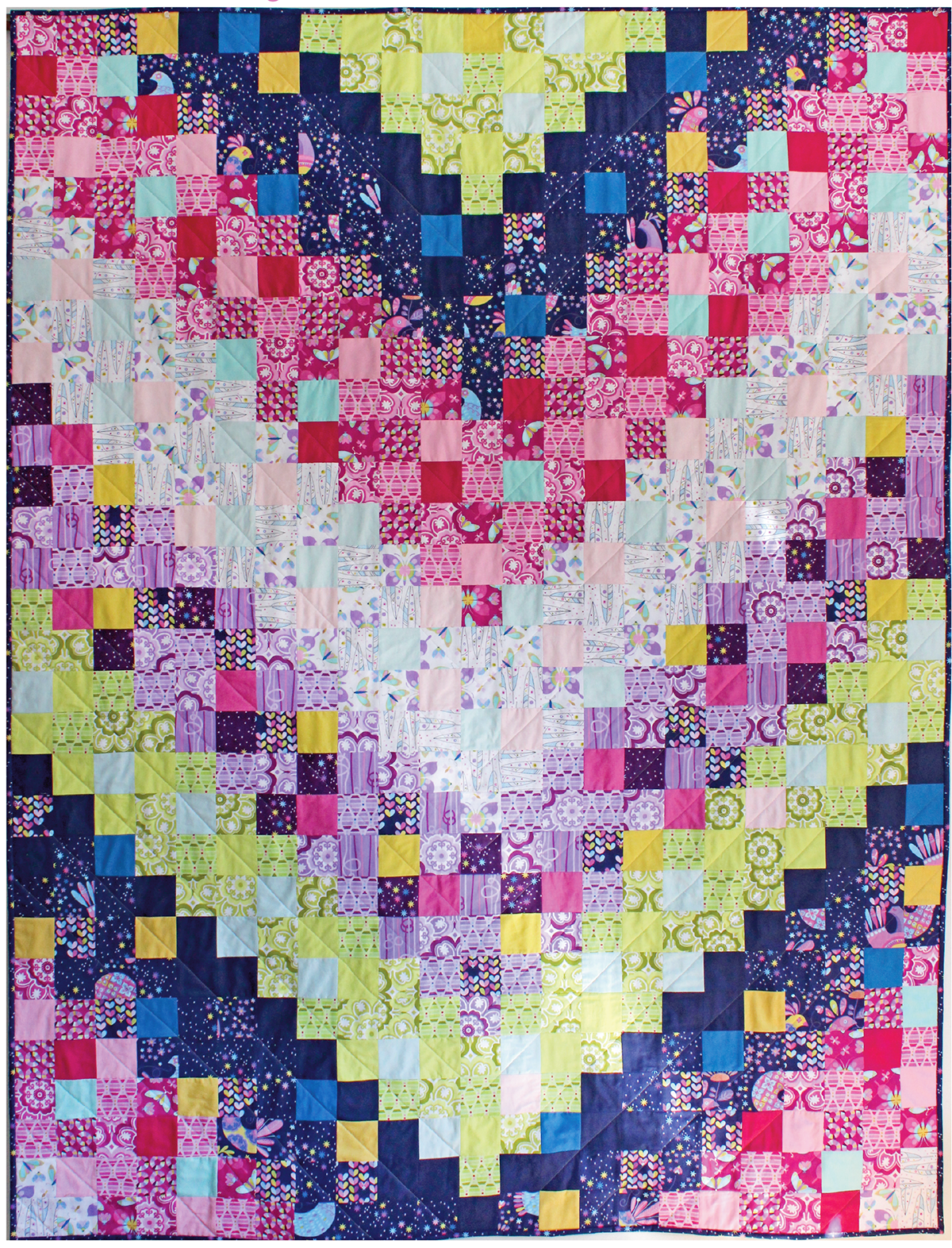 Flight Formation Quilt by Tamara Kate / 58x76
