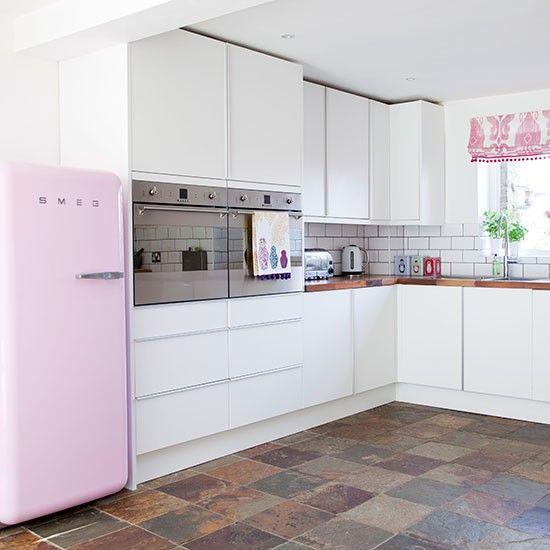 Schön Küchen Küchenideen Küchengeräte Wohnideen Möbel Dekoration Decoration  Living Idea Interiors Home Kitchen   Weiß Und Rosa Küche
