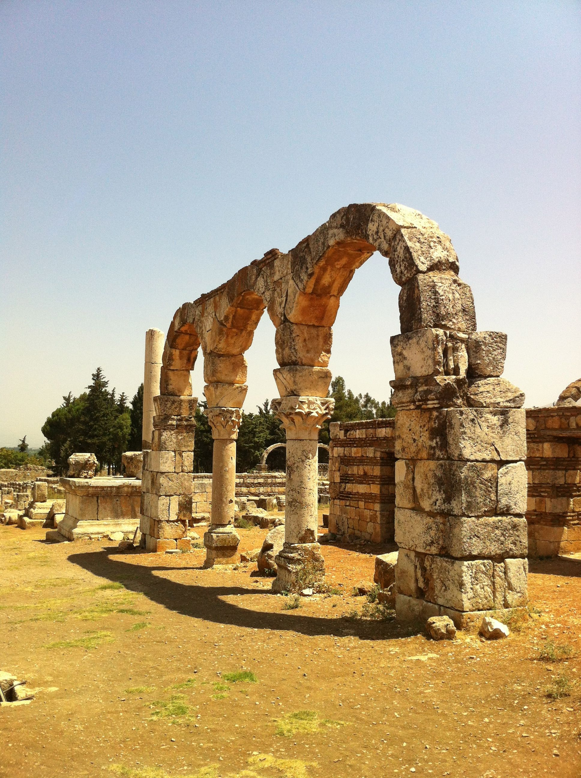 Ruins In Anjar Bekaa Valley Lebanon