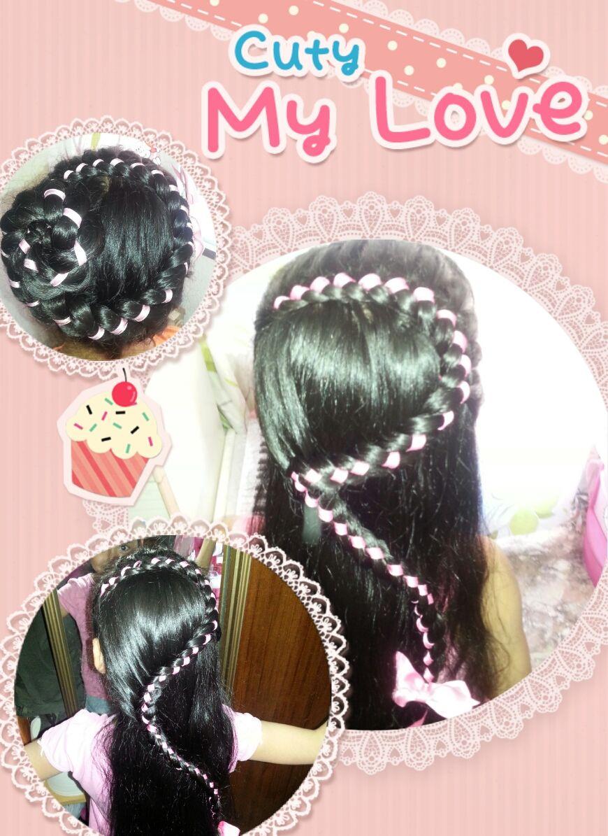 Peinados De Niñas, Amor, Rosa, Mi, Trenza, Hairstyles Girls, Love, Pink,  Braid
