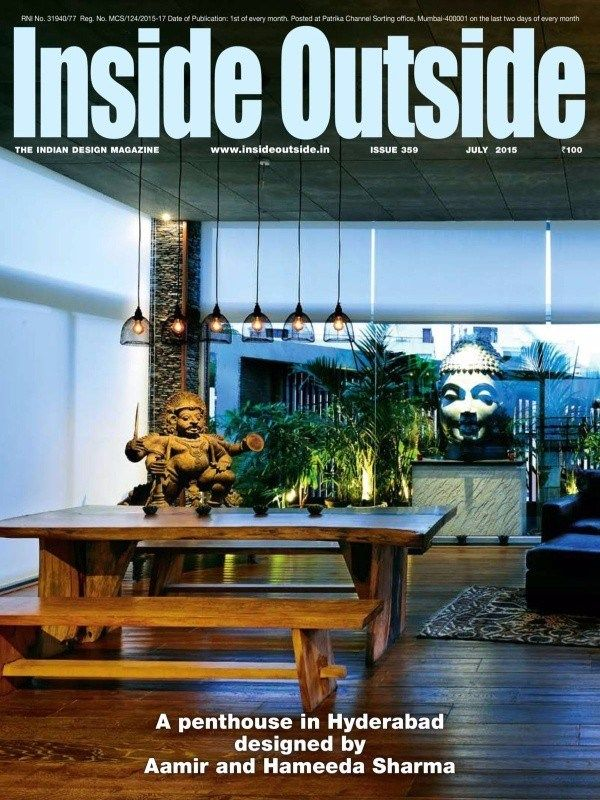 INSIDEOUTSIDE July 2015 Issue A Penthouse In Hyderabad Designed By Aamir And Hameeda Sharma