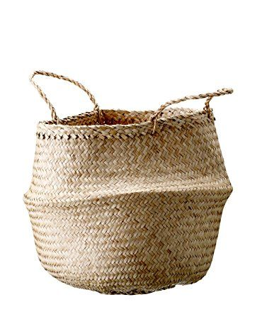 Bloomingville Natural Seagrass Basket with Handles