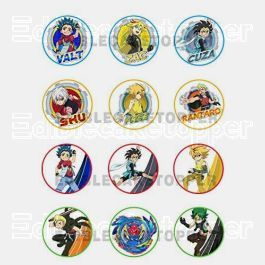 Beyblade Edible Cupcake Toppers (12 Images) Cake Image Icing Sugar Sheet Edible Cake Images #pictureplacemeant