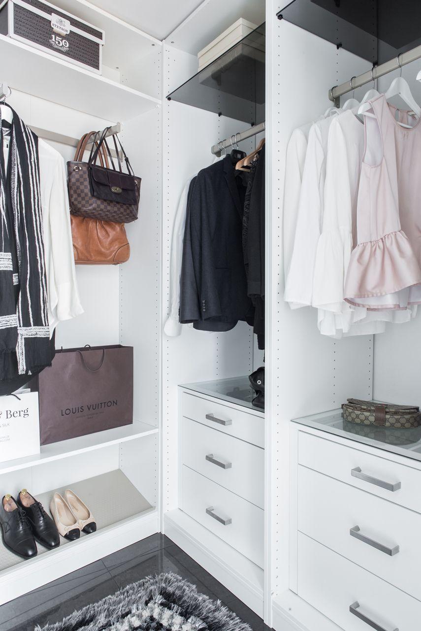 Clean u sleek walkincloset interior pinterest bedrooms and