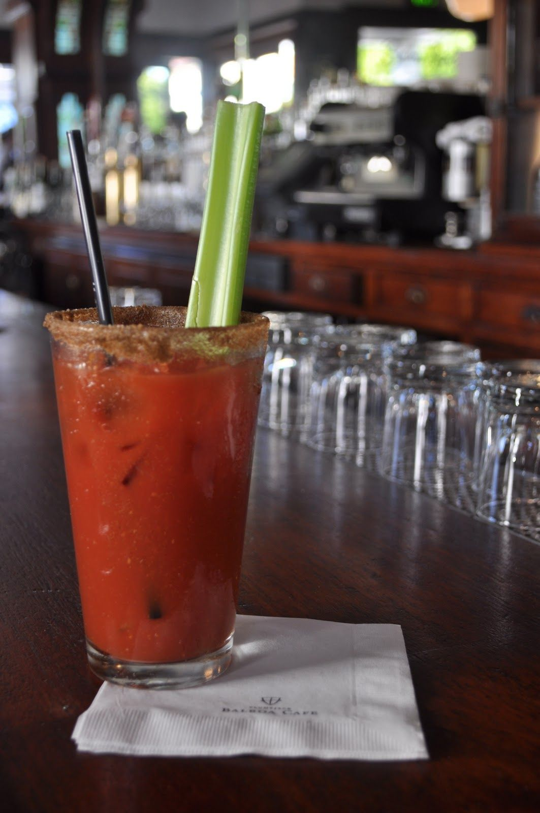 My favorite Bloody Mary in San Francisco, from Balboa Cafe