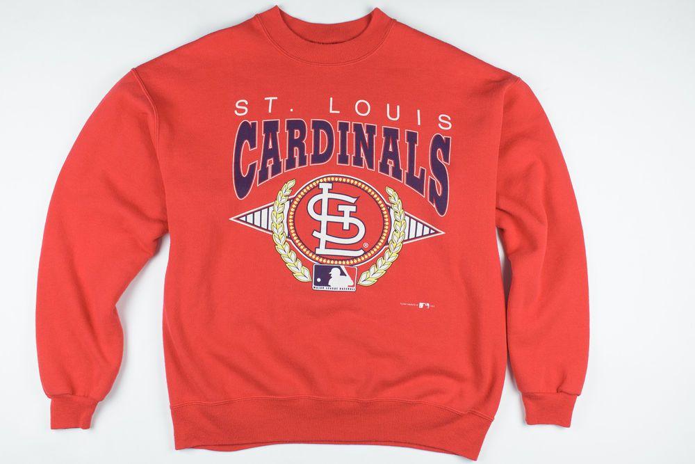 ac989fa4 Vintage 90's Stl St Saint Louis Cardinals Red MLB Hanes Pullover ...