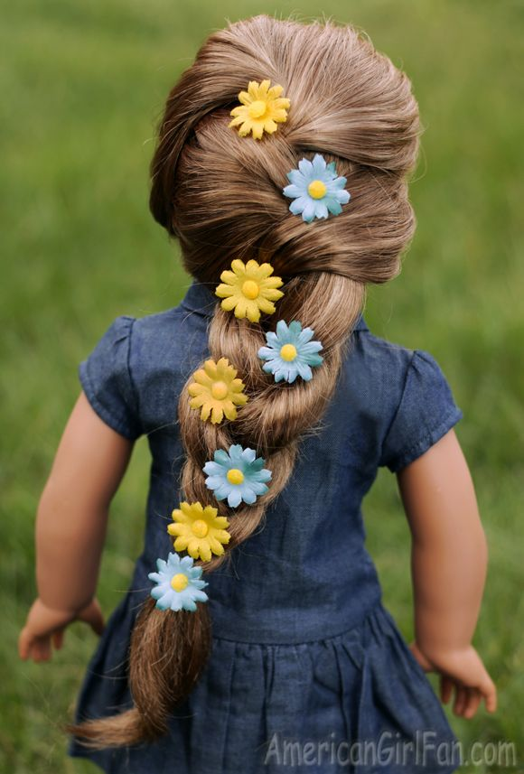 Doll Hairstyle: Floral Braid For Spring!