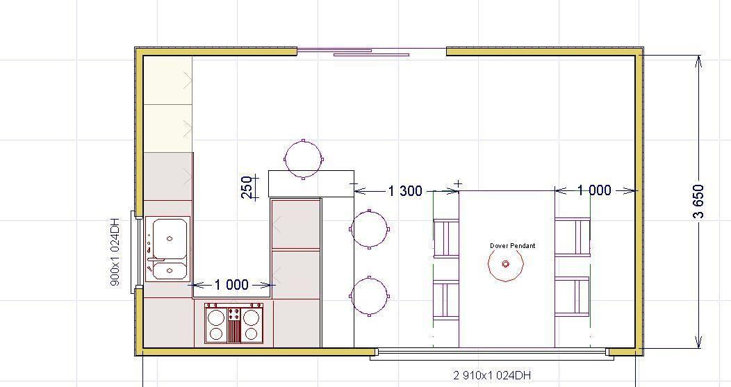 Una Penisola In Cucina Cucine Arredamento Planimetrie Di Case