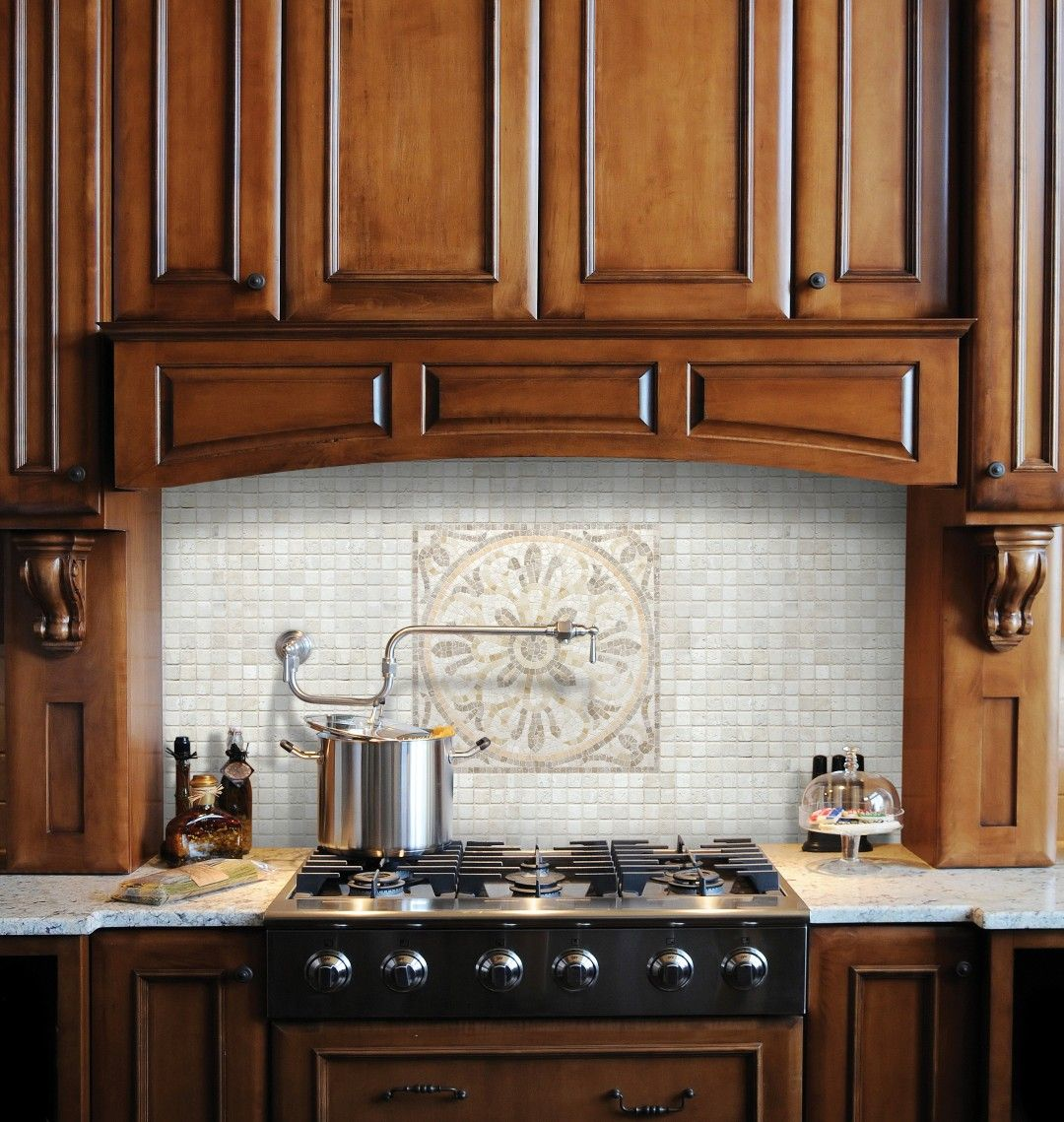 tile medallions for kitchen backsplash 16 quot x16 quot emporio travertine medallion anatolia tile and stone kitchen redo stone backsplash 8211