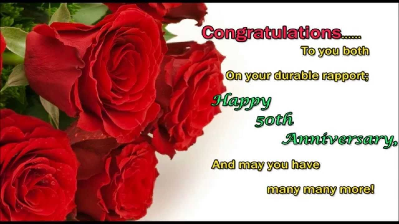 Happy Wedding Anniversary Wishes On 50th Marriage Anniversary Day