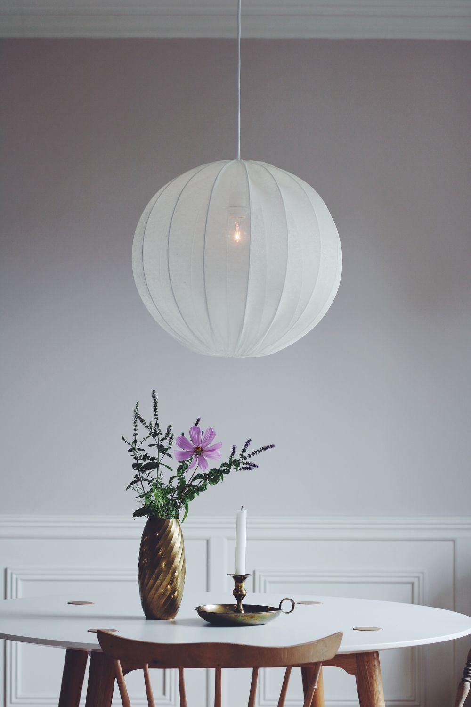 Lampskärmar till taklampor.Vit svensktillverkad stomme klädd