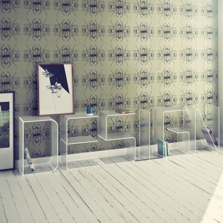 decovry - quattria | anita boekenplank letter vloer | design, Mobel ideea