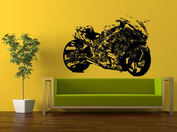 Motorcycle Sport Custom Paint Art Crotch Rocket Racing Motorbike - Custom motorcycle stickers racing