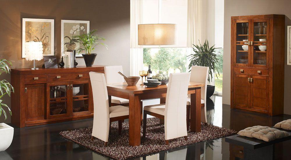 Comedor de muebles de madera de teca de estilo colonial en ...