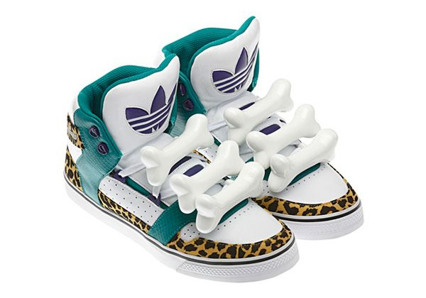 "hot sale online c96d1 6beee Adidas High Tops for Girls   Jeremy Scott vs adidas Originals by Originals "" JS Bones"" High Tops ."