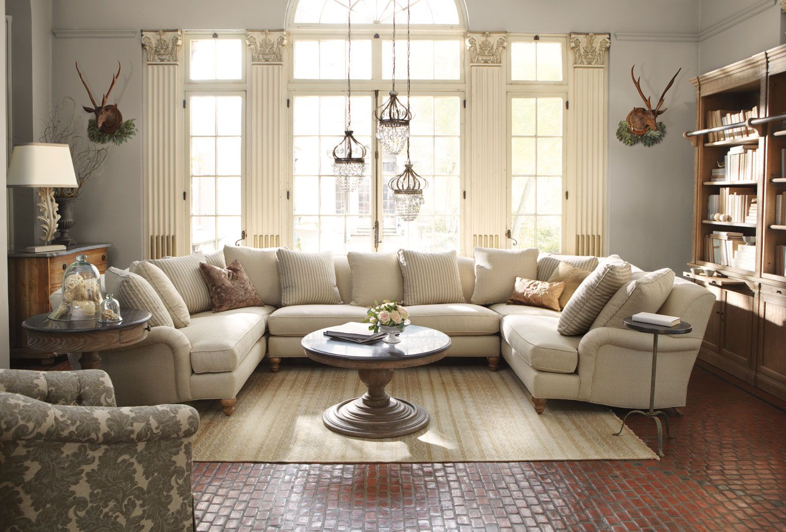 I LOVE this sectional. It is huge has English roll arms and white! : english roll arm sectional sofa - Sectionals, Sofas & Couches