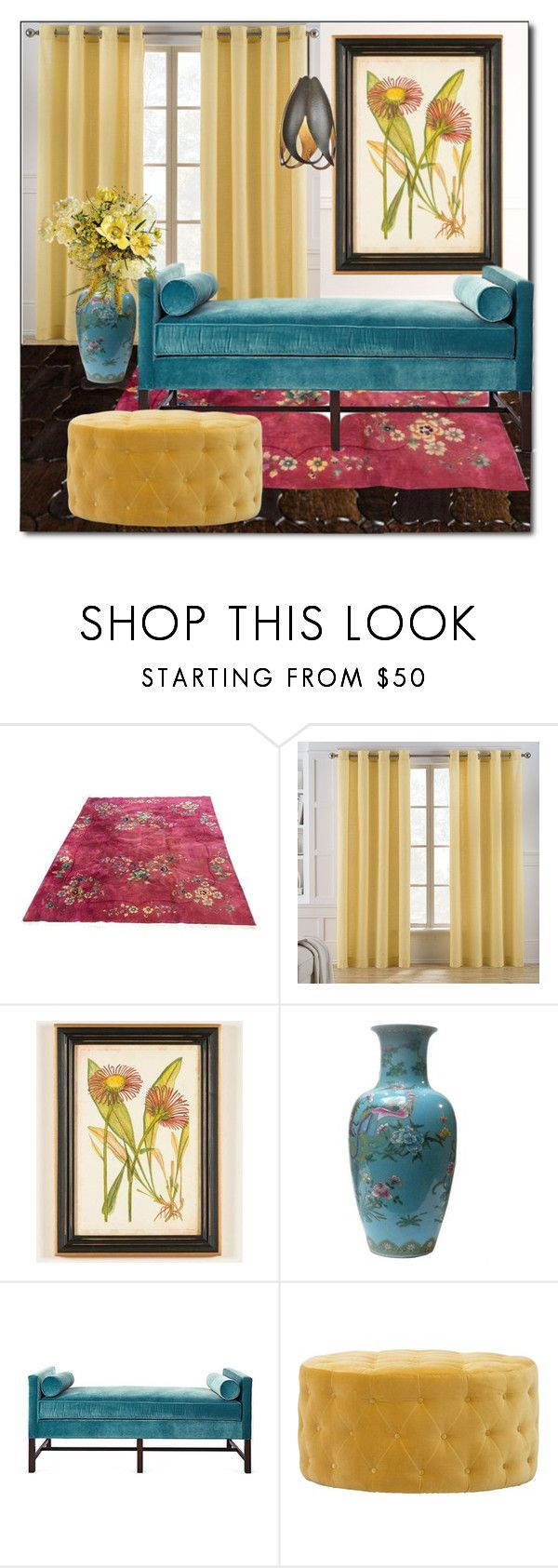 """BRIGHTS & BOLD"" by littlefeather1 ❤ liked on Polyvore featuring interior, interiors, interior design, home, home decor, interior decorating, Keeco, Country Curtains, Kristin Drohan Collection and Hubbardton Forge"