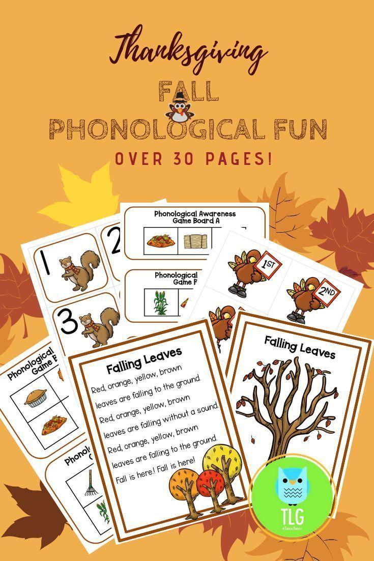Fall Phonological Fun~Games, Songs, and more | Phonemic ...