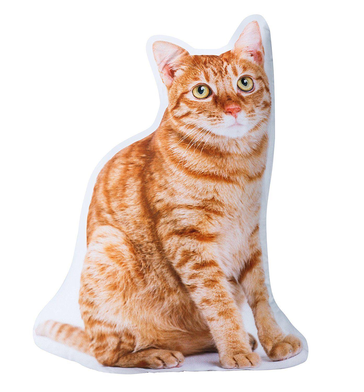 Cat Shaped Pillow - Tabby 18-D Stuffed Cushion. | Kitty Cat ...