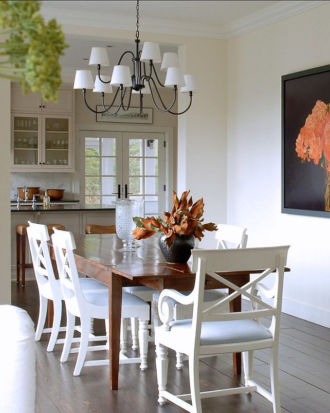 Casual dining room with pretty decor and furniture chandelier is from circa lighting