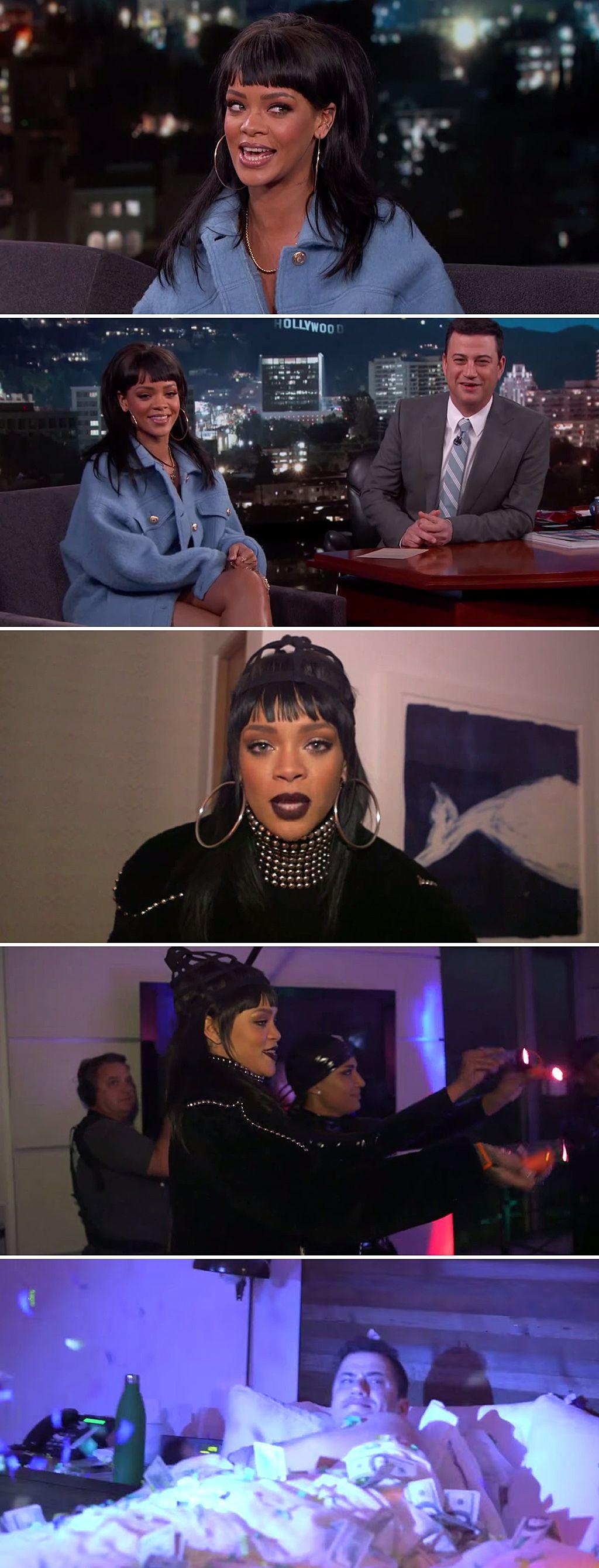 Rihanna played a hilarious prank on Jimmy Kimmel last week. She ...