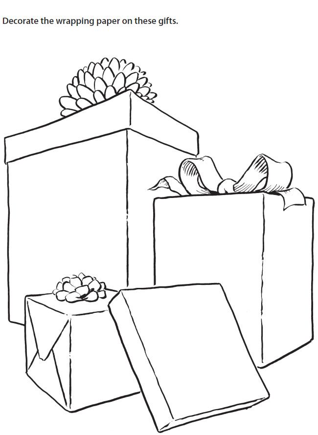 Christmas Worksheet Coloring Page Decorate/ Design the