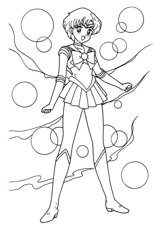 mercury coloring page - sailor moon series coloring pages sailor mercury sailor