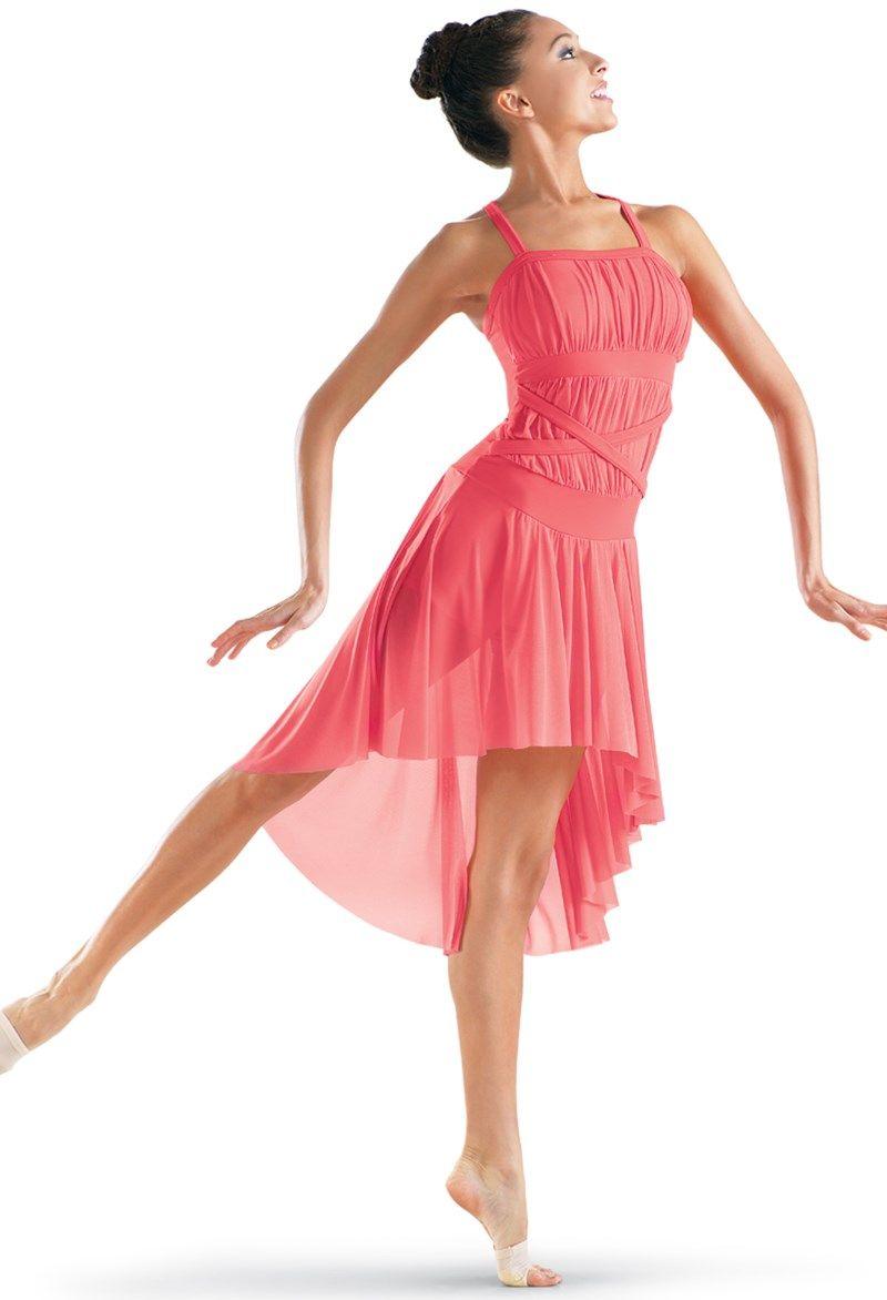 High-Low Mesh Dress Trajes De Danza Contemporánea 4881741d31c