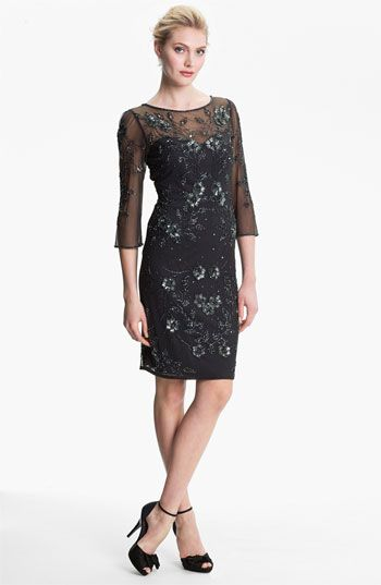 Patra Embellished Illusion Yoke Mesh Dress available at #Nordstrom ...