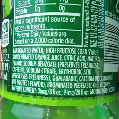 Why Is Brominated Vegetable Oil Added To Mountain Dew Why You Should Never Touch It Ever Again Mountain Dew Juicing For Health Health Signs