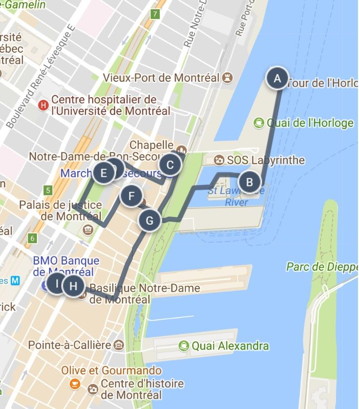 Map Of Old Montreal Old Montreal Sightseeing Walking Tour Map and other great ways for