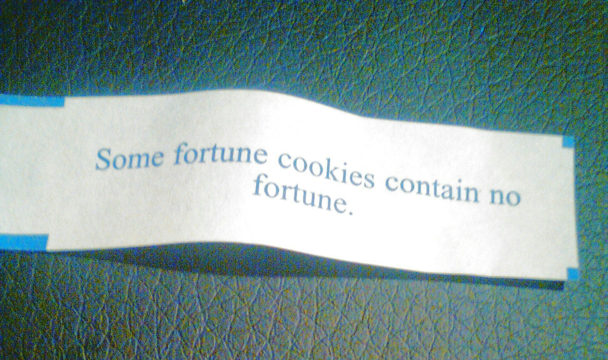 (」゚ロ゚)」 / WHERES MY FORTUNE?!