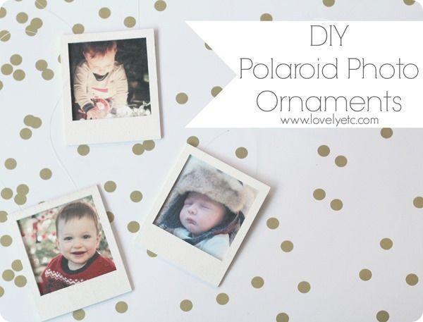 DIY polaroid photo ornaments